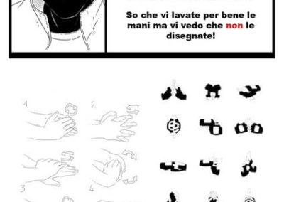 Come lavarsi le mani Manga Elena_Barberis