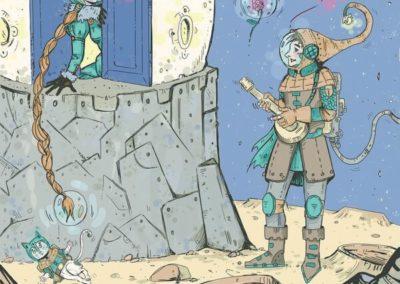 Illustrazione 50 morsi alla luna Elena_Barberis